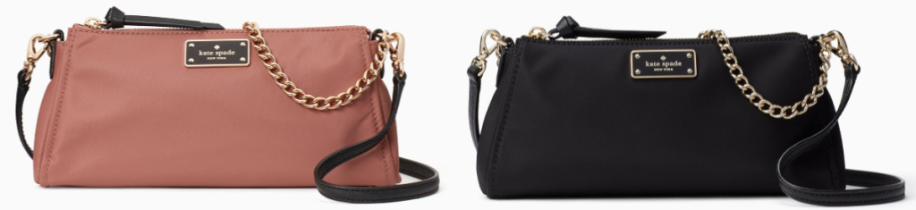 coral and black kate spade crossbody bags