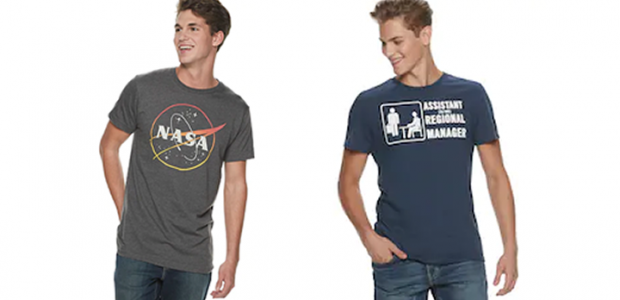 LAST DAY! Kohl's 30% Off! Earn Kohl's Cash! Stack Codes! FREE Shipping! Men's Licensed Character Graphic Tees – Just $7.00!